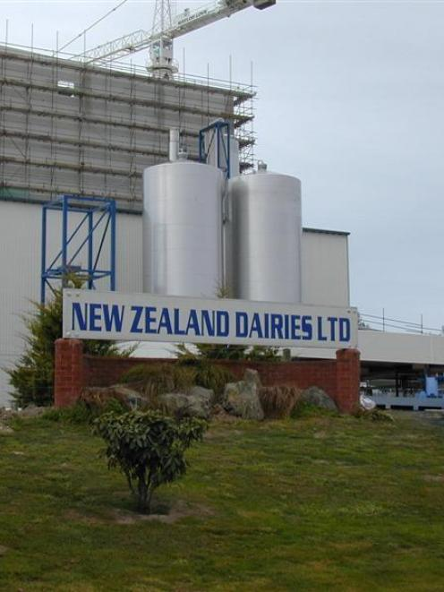The Studholme milk processing plant, bought out of a $61.7 million receivership by Fonterra.