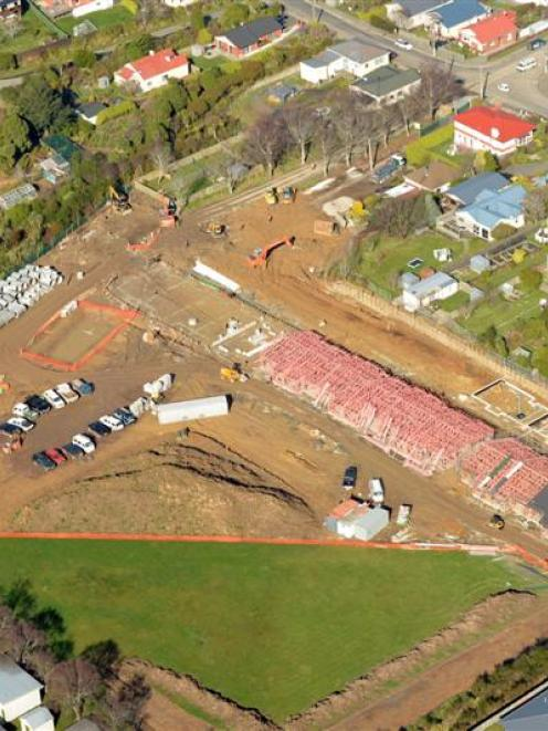 The Summerset at Bishopscourt village, under construction in Dunedin last week. Photo by Stephen...