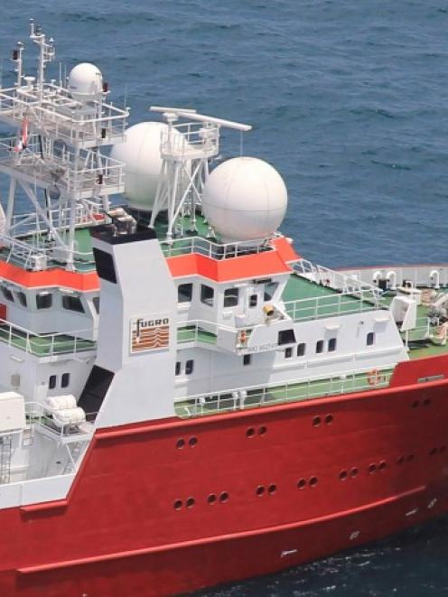 The survey vessel Fugro Equator is mapping the ocean floor as the search for the missing plane...