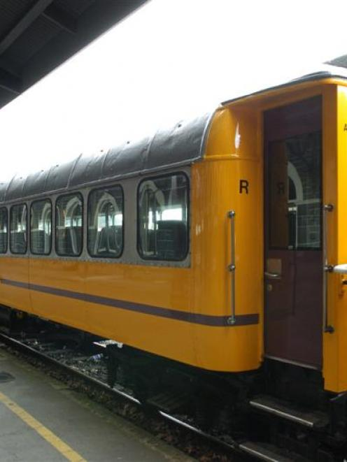 "The Taieri Gorge Railway's recently refurbished carriage ""R"" will be on show at the Dunedin..."