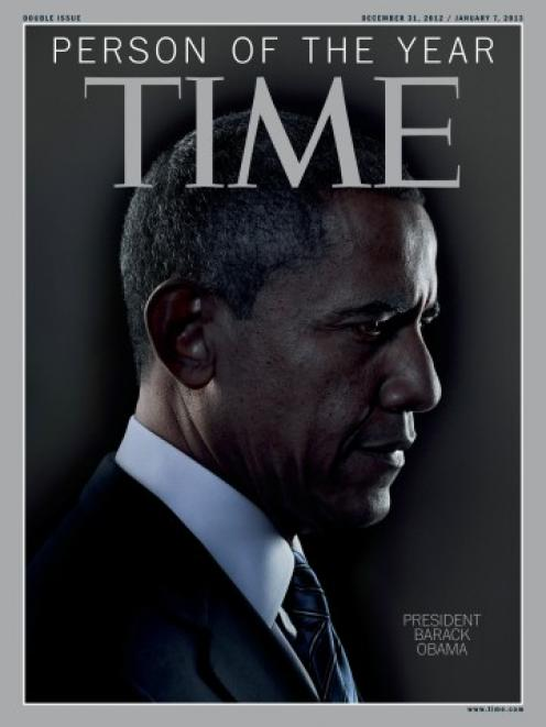 The Time magazine Person of the Year edition featuring US President Barack Obama. REUTERS/TIME...