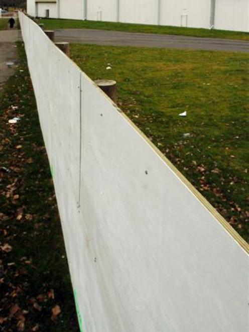 "The ""ugly white fence"" at the Forsyth Barr Stadium site in Dunedin could soon be home to a giant..."