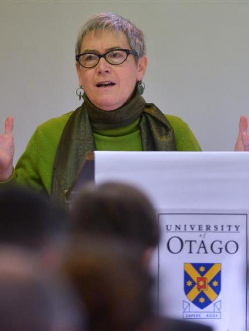 The University of Auckland's Prof Jane Kelsey at the Foreign Policy School in Dunedin on Saturday...