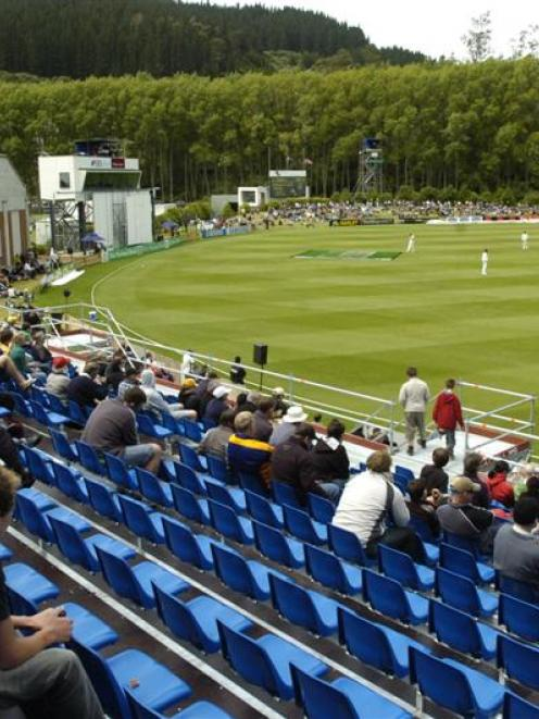The University Oval pictured during the test between New Zealand and the West Indies in December...