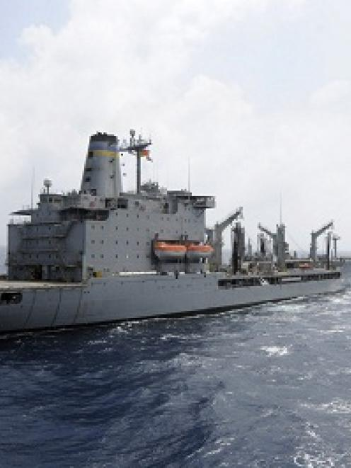 The US Navy supply ship USNS Rappahannock is shown in this file photo.   REUTERS/MC3 Cale Hatch...
