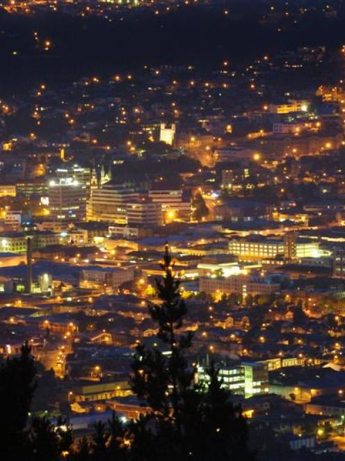 The view of the central business district from Signal Hill. Photo by Gerard O'Brien.