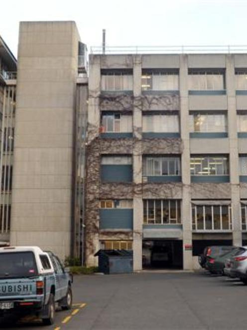 The west wing of the University of Otago's dental school Walsh Building which is scheduled for...