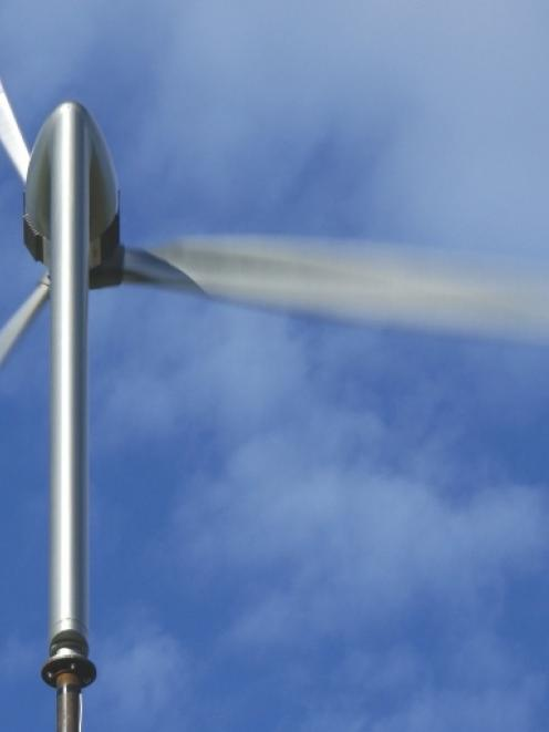 The wind turbine that won the Otago CleanTech challenge. Photo by Bill Currie.