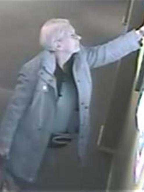 The woman was caught on CCTV.