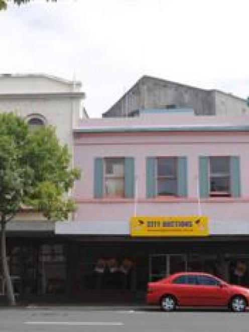 These buildings in Princes St, Dunedin, are one step closer to demolition. Photo by Peter Mcintosh.