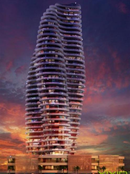 This image was designed for a futuristic hotel design competition that Phillip Tytler's company,...