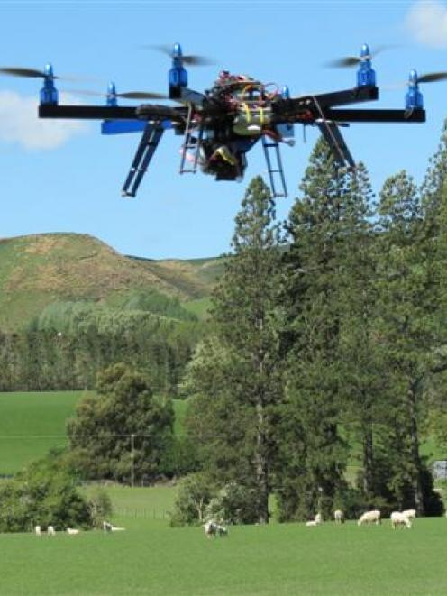 This remote-controlled drone has dozens of applications and uses in agriculture, as the Gardyne...