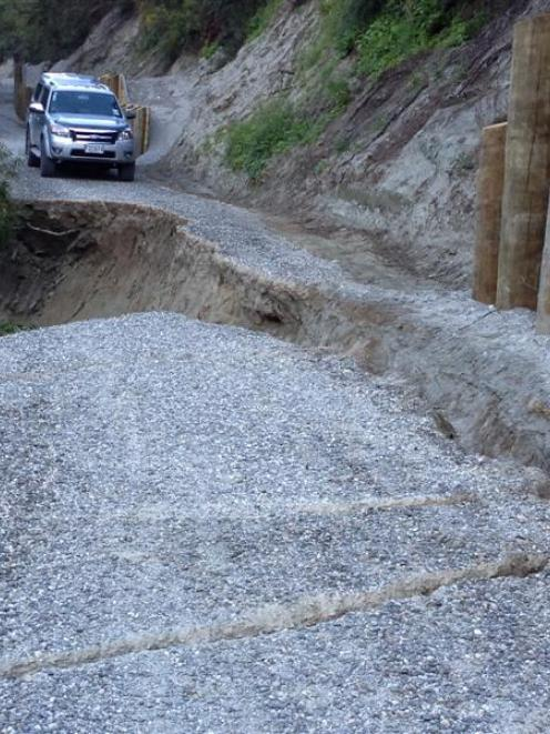 This section of the Kawarau River Trail, part of the Queenstown Trail, was closed yesterday due...