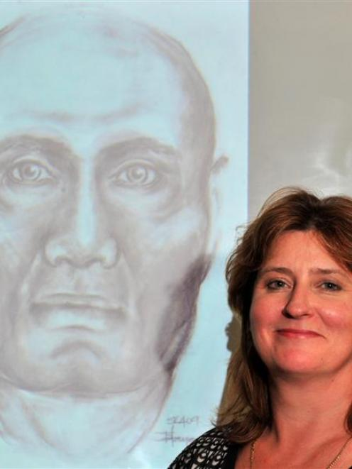 This visual reconstruction  depicts the face of an early rangatira (leader), aged about 30, who...