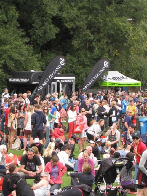 Thousands of spectators and supporters joined athletes at Butler's Green in Arrowtown at the...