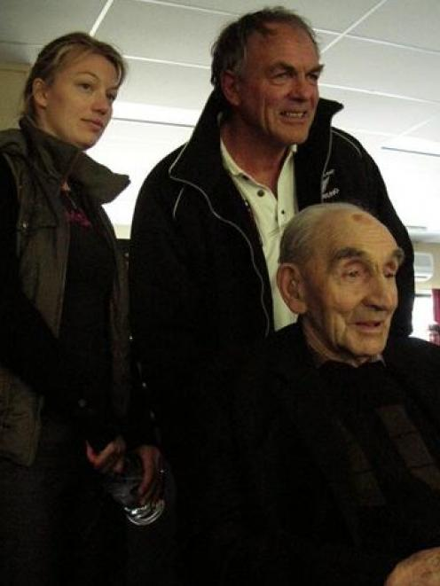 Three generations of the Becker family at the Maniototo Curling International rink in Naseby this...