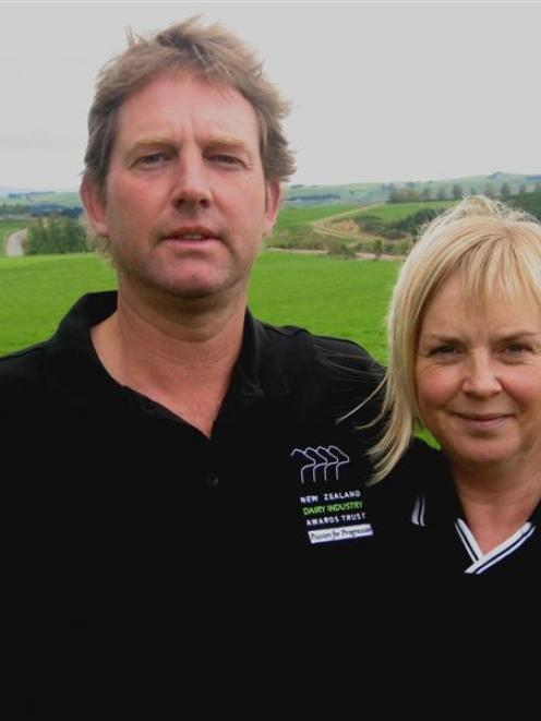 Tim and Lorraine Johnson won the Otago sharemilker/equity farmer of the year title in 2011. Photo...