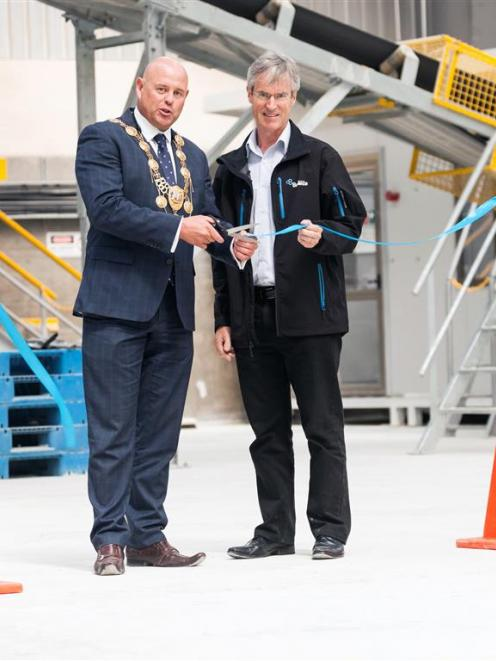 Timaru Mayor Damon Odey (left) with Ballance Agri-Nutrients chief executive Mark Wynne at the...