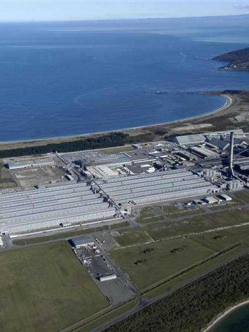 Tiwai aluminium smelter.