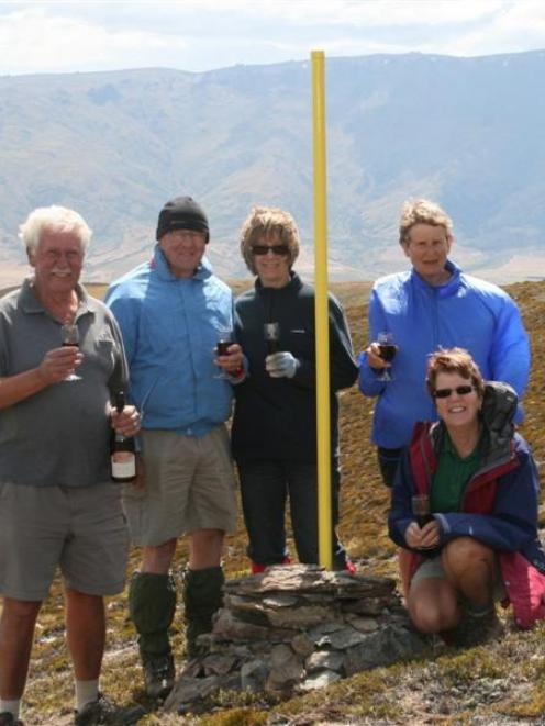 Toasting the furthest point from the sea in New Zealand with Bannock Brae Estate's barrel...