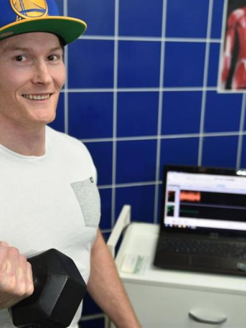 Tom Davie works for a Dunedin gym that uses electromyology to measure the electrical activity of...