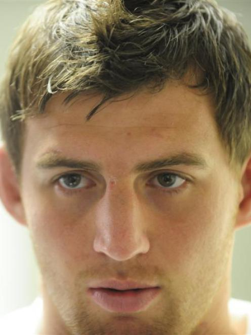 Tom Wood speaks at an England team press conference at the Southern Cross Hotel in Dunedin this...