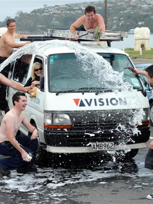 Last year's topless car-wash.