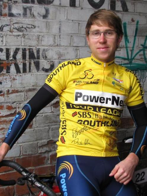 Tour of Southland winner Brad Evans reflects on his victory in Dunedin yesterday. Evans became...