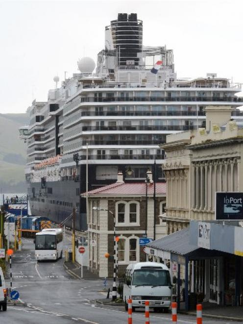 Tour operators say being banned from the Port Chalmers wharf is hurting their profits. Photo from...