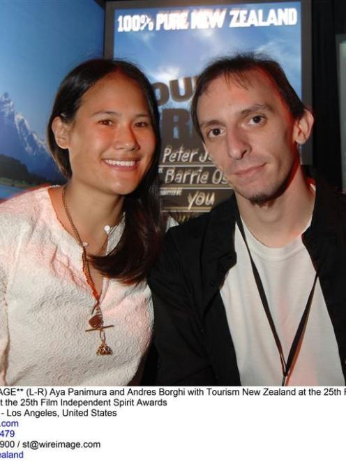 Tourism New Zealand's 100% Pure Your Big Break People's Choice award winner Aya Tanimura (left),...