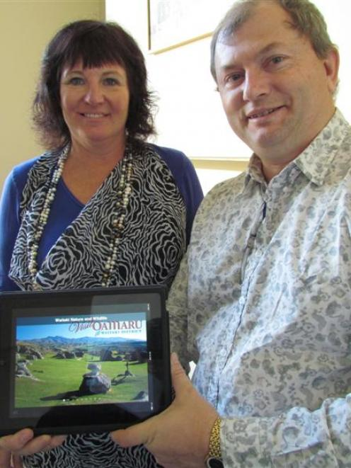 Tourism Waitaki sales and marketing co-ordinator Megan Howell (left) and iTravelNZ director Yuri ...