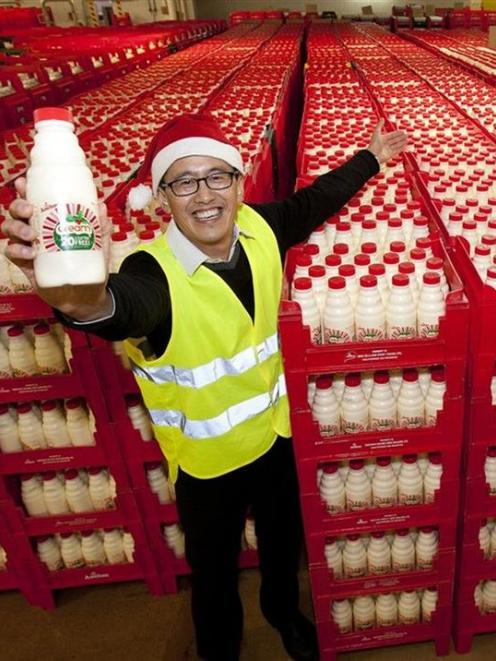 Trading in Fonterra's units helped boost the NZX in December, when cream made Christmas treats...