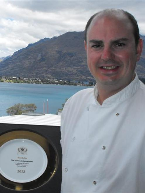 True South Dining Room chef Ben Batterbury of Queenstown with his Beef and Lamb 2012 award plate....