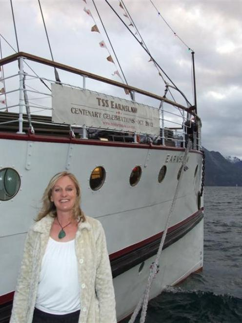 TSS Earnslaw's only female skipper under current owners Real Journeys is Lisa McIlroy.