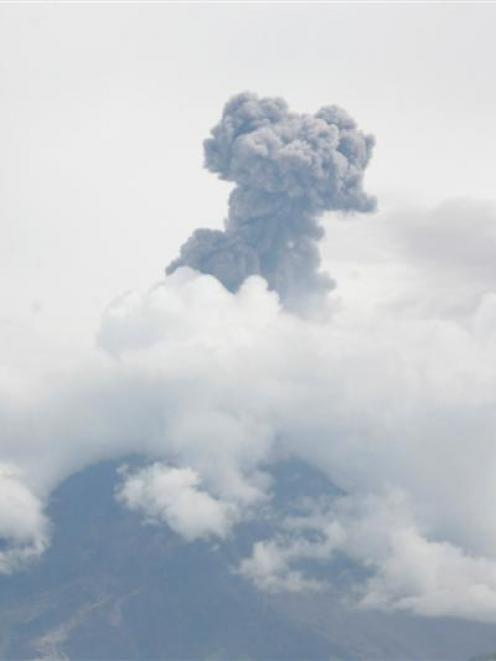 Tungurahua volcano spews gas and ash south of Quito in Ecuador earlier thid month. REUTERS/Carlos...