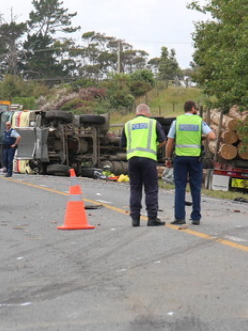 Two men and two young girls were killed in the crash on State Highway 1, north of Waipu. Photo /...