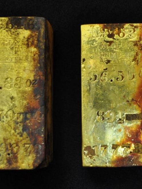 Two of five ingots that were also recovered.