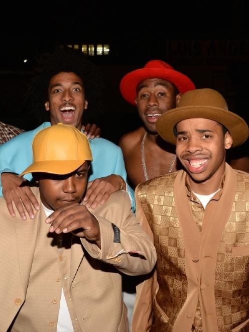 Tyler, the Creator' (back right) and the Odd Future at VGX 2013 in Los Angeles, California. Photo...