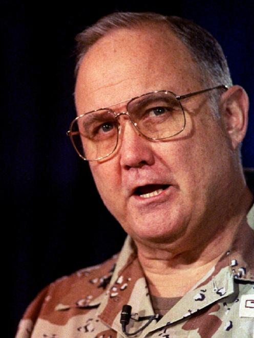 U.S. Army General H. Norman Schwarzkopf, pictured in 1991. File photo from Reuters.