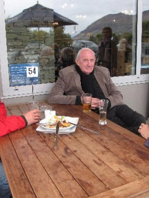 UK tourists (from left) Paul Larrett and Bill and Diane Petzold, pictured at Wanaka's Speight's...