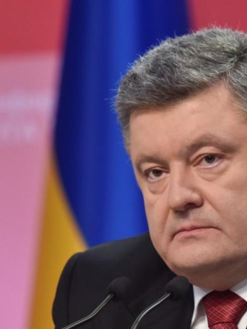 Ukrainian President Petro Poroshenko. Photo Reuters