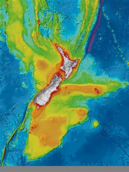 "Niwa's the map, which will also be available in 3D, shows the ""texture' of the seafloor."