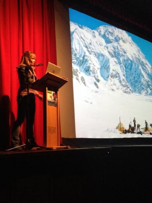 United States climber Kitty Calhoun  talks about the effect of global warming on climbing routes...