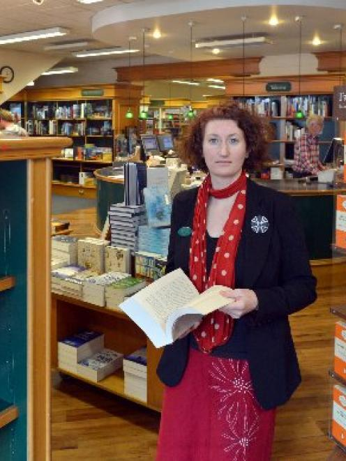 University Book Shop manager Phillippa Duffy in its Great King St shop. Photo by Gerard O'Brien.