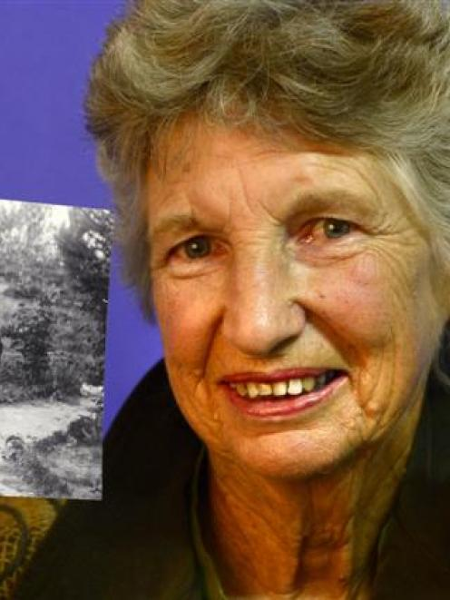 University of Otago doctoral researcher Dawn Coburn with a well-preserved photo of her aunt and...
