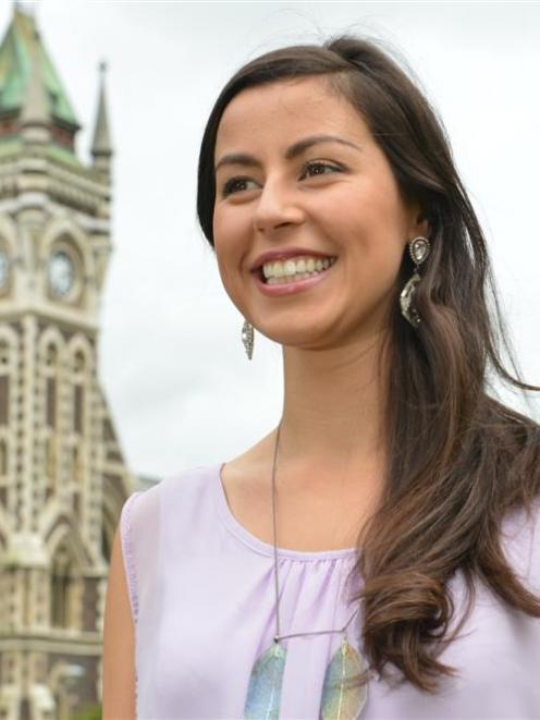 University of Otago medical student Deborah Lambie, of Dunedin,  looks forward to representing...