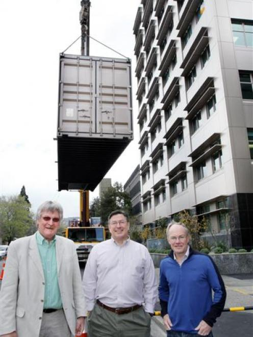 University of Otago microbiology and immunology department head Prof Frank Griffin (left),...