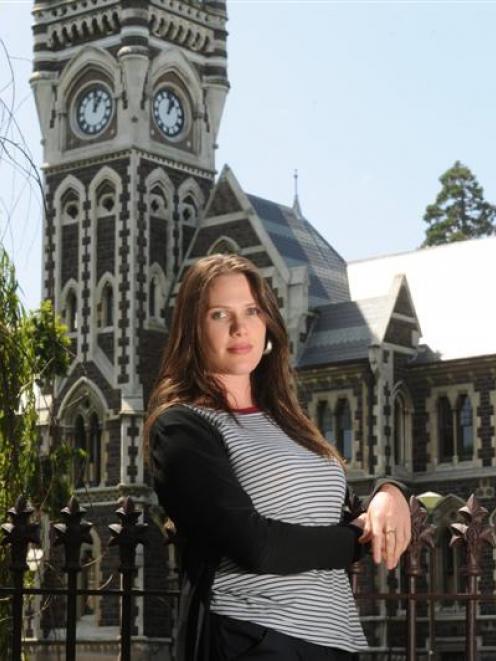 University of Otago postgraduate student Veronica Harwood-Stevenson (28) says it is unfair her...