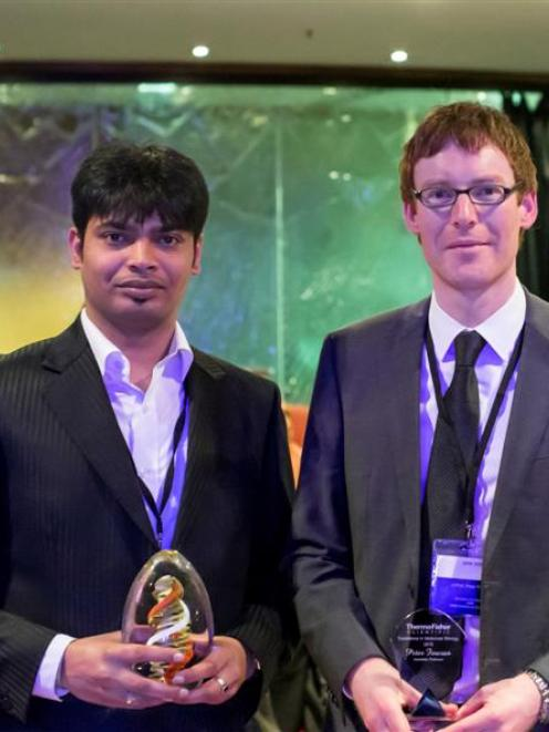 University of Otago researchers Aniruddha Chatterjee (pathology, left) and  Peter Fineran, of the...