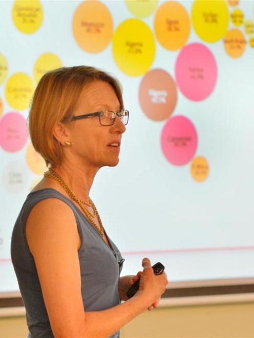 University of Waikato professor of agribusiness Jacqueline Rowarth speaks at the University of...